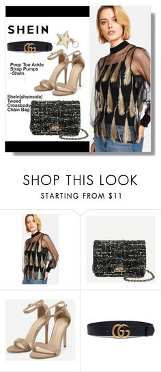 """""""shein"""" by aminkicakloko ❤ liked on Polyvore featuring Gucci and Aspinal of London"""