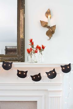 Cat Face Garland