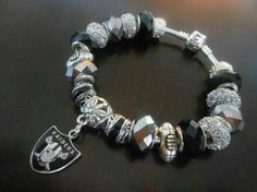 Raiders charm bracelet