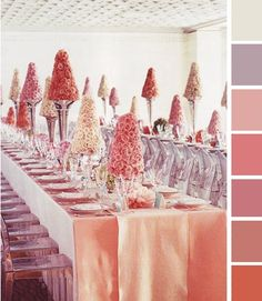 I love that the table runner is basically the same color as the table cloth