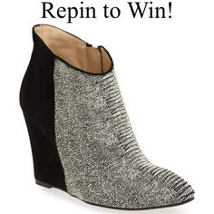 Win a free pair of shoes today only! To enter is easy: 1) Follow Chinese Laundry Shoes on Pinterest 2) Repin this pin. We will announce the winner on Pinterest tonight!
