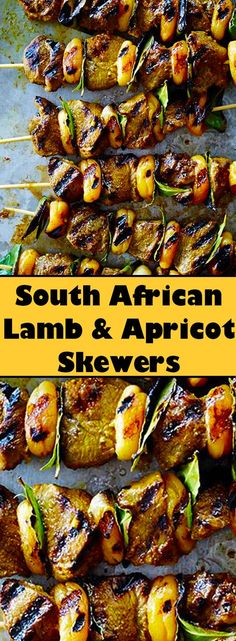 Introduce your grill to the flavors of South Africa with these amazing lamb sosaties! Outdoor Cooking Recipes, Braai Recipes, Lamb Recipes, Barbecue Recipes, Meat Recipes, Recipies, South African Braai, South African Dishes, South African Recipes