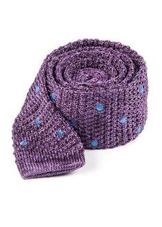 Scramble Knit Polkas Ties - Purple | Ties, Bow Ties, and Pocket Squares | The Tie Bar