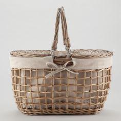 Gray Willow Picnic Basket | World Market