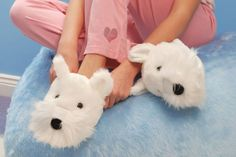 I seriously want these westie slippers!