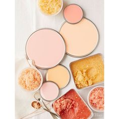 Oranges, Pinks, Corals, and More Get On This Paint Color Trend ❤ liked on Polyvore featuring pictures