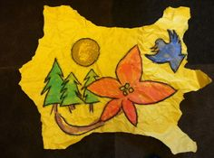 "Native American Art: ""Buffalo Hide Painting"" Lesson Plan"