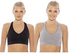 SB20027    1    SJustIntimates2PackRacerbackSportsBra heathergray black Small *** Read more reviews of the product by visiting the link on the image.