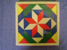 Houten puzzel mozaiek.