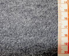 Wolle - 1 Meter mittelgraue gewalkte Wolle - ein Designerstück von knopfelfe bei DaWanda