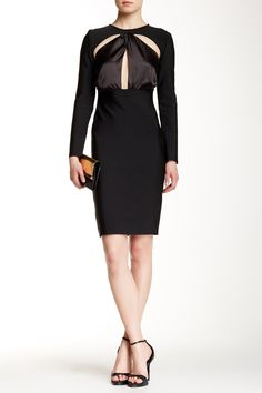 #AdoreWe Few Moda, Minimalistic Fashion Brands Online - Designer Few Moda Knot Pursuit Vegan Midi Dress FW0057 - AdoreWe.com