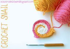 Crochet Snail Tutorial. . . . . so going to try ths for @Karina Kiene. LOVE the colors!!!