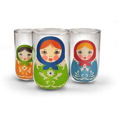 Fred Babushkups Russian Matryoshka Nesting Drinking Glasses Set of 3 in Home, Furniture & DIY, Cookware, Dining & Bar, Glassware | eBay