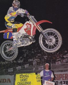 Six-time AMA Motocross and Supercross champion Jeff Stanton taking the victory at Las Vegas in 1993  - tonyblazier