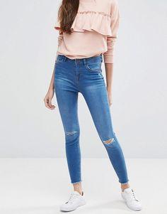 Green skinny jeans asos