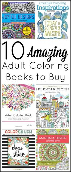 Get 10 great adult coloring books to buy all in one place. A great collection to step into the world of adult coloring!