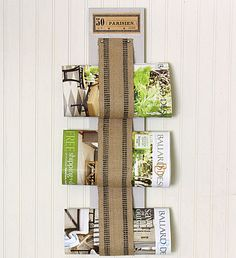 [Jute webbing and upholstery tack] DIY French Inspired Magazine Rack - The Graphics Fairy