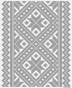To tegninger, samme mønster. – Vevstua Bull-Sveen Cross Stitch Bookmarks, Cross Stitch Borders, Cross Stitch Flowers, Cross Stitch Patterns, Bed Quilt Patterns, Weaving Patterns, Mosaic Patterns, Blackwork Embroidery, Cross Stitch Embroidery