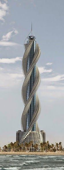 A bit of #fantasy to begin your week! A spiral concept for a #skyscraper! Wow. www.torontolakefrontcondos.ca