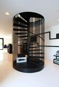 Staircase Design Modern, Home Stairs Design, Modern Stairs, Interior Stairs, Home Room Design, Modern House Design, Home Interior Design, House Staircase, Staircase Railings