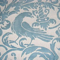 2Y Stunning Authentic Mariano FORTUNY Fabric Birds on PopScreen