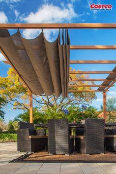 Videos of the Pergola Terrace Building - Backyard Videos of the Pergola Landscaping - Pergola Patio, Pergola Carport, Pergola With Roof, Pergola Shade, Diy Patio, Pergola Kits, Backyard Patio, Small Pergola, Covered Pergola