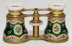 CONTINENTAL ENAMELED OPERA GLASSES, EARLY 20TH C.