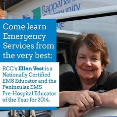 Come learn #EmergencyServices from the very best  RCC's Ellen Vest. Check out our classes: http://ift.tt/2bHXDy1 #EMS #EMT #Rappahannock #community #college #comm_college #nnk #midpenva #Virginia #newkentva #newkent #Gloucester #Warsaw #kinggeorge #kinggeorgeva #VCCS #northernneck #middlepeninsula #RCC