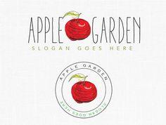 Premade Apple Logo Design Apple Garden Farm Logo