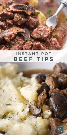 beef dishes Instant Pot Beef Tips makes the most perfect, savory, filling dish for those hearty, in-a-hurry weekday meals. Serve with mashed potatoes or rice to round out the meal. Best Instant Pot Recipe, Instant Pot Dinner Recipes, Healthy Dinner Recipes, Healthy Soup, Beef Shank Recipe Instant Pot, Instant Pot Meals, Instant Pot Veggies, Healthy Hamburger, Breakfast Recipes