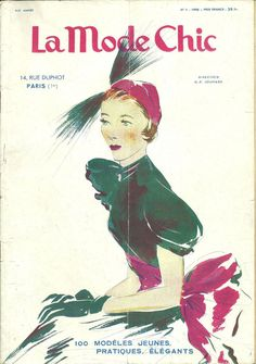 La Mode Chic,revue, magazine, N° 1, 1950, fashion