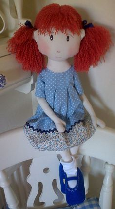 Handmade Collectable Rag Doll LARA World of by WorldOfSweeties, £30.00