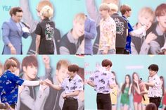 Sharing is caring ahaha ❤ #BTS #방탄소년단 at the smart family day event sharing the same bottle of water. They are definitely a family :)