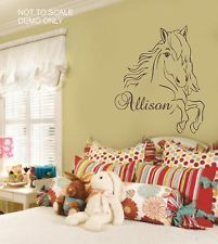 Western Horse Wall sticker vinyl Decal - Easy to apply and match your bedding