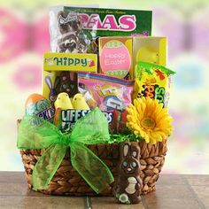 Say happy easter to someone special or to the whole family with bunny hop easter gift basket price 5295 price includes free shipping via ground service negle Choice Image