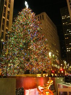 Rockefeller Center Christmas tree...I never saw the pictures Mark took of us in front of this tree...I want them...