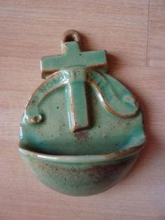 ≥ nr.42 wijwaterbakje oud groen keramiek - Antiek | Religie - Marktplaats.nl
