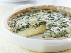 Healthified Spinach and Cheese Quiche. 96% less cholesterol • 69% less sat fat than the original recipe.