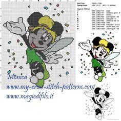 Minnie Tinkerbell cross stitch pattern
