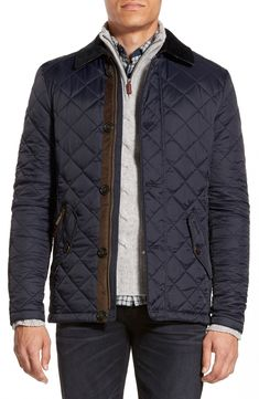 Barbour 'Fortnum' Regular Fit Quilted Jacket available at Men's Coats And Jackets, Winter Jackets, Barbour Quilted Jacket, Cozy Fashion, Men's Fashion, Fashion News, Winter Fashion, Fashion Trends, Best Mens Fashion