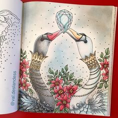 I was really happy with this until I mess everything (and ruined my beautiful white swan ) trying to do what became an horrible background. Well... I did learn from this mistake. And I won't stop trying things! Next!   #hannakarlzon #sommarnatt #summernights #coloringbookforadults #coloriagepouradulte #prismacolor #livredecoloriage