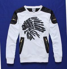 us stock 3 color madhero Indians printed sweatshirt crewneck Long Sleeve Sport Pullovers for Men #men #men's #wear #style #aliexpress