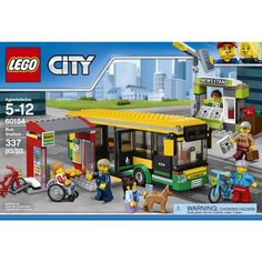 Hop on, there's so much to see with the LEGO® City bus!Jump on your bike and head to the bus stop! Park your bike in the stand and walk to the. Lego Bus, Lego City Bus, Lego Lego, Lego City Police, Police Truck, Brick Show, Bus Station, Bike Rack, Bus Driver