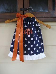 Monogrammed Polka Dot Pillowcase Dress  sizes 3m by theuptownbaby, $32.00