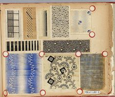 Textile Sample Book Assembled by Louis Long 1880-1920's Buchanan, NY