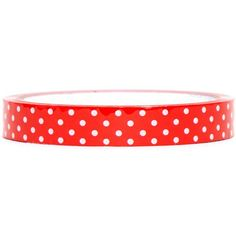 red Deco Tape with white polka dots
