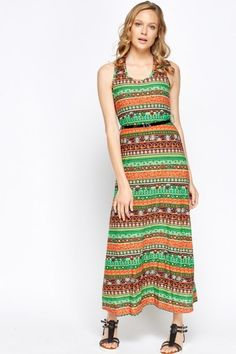 Mix Print Belted Maxi Dress - YELLOW/MULTI - £5 - on Everything5pounds.com