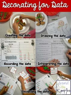 Decorating for data with gingerbread cookies (or construction paper shapes) glyphs.