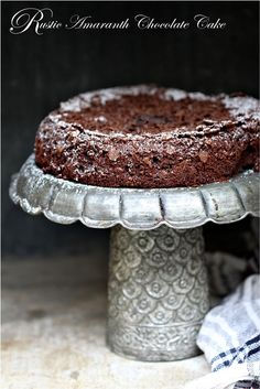 Rustic Amaranth Chocolate Cake This world is really awesome. The woman who make our chocolate think you're awesome, too. Please consider ordering some Peruvian Chocolate! http://www.amazon.com/gp/product/B00725K254