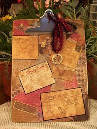 Altered Clipboard by Cindy